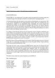 Selectieproces U23 mannen
