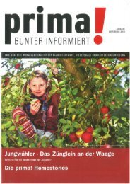 prima! Magazin - Ausgabe September 2013
