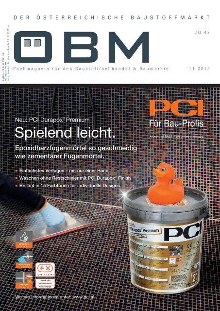 2018-11 OEBM Der Österreichische Baustoffmarkt - DURAPOX - spielend leicht
