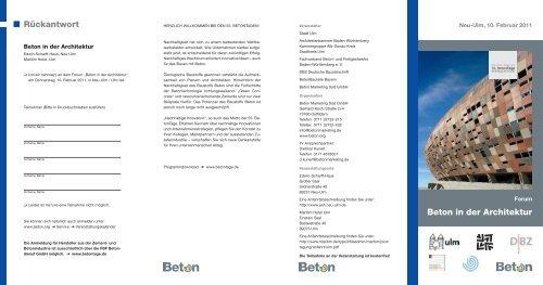 55. BetonTage - architekten24.de