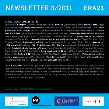 newsletter 3/2011 - Časopis Era 21