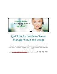 QuickBooks Database Manager Setup and Usage - 1-800-796-0471 Call