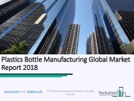 Plastics Bottle Manufacturing Global Market Report