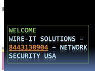 Wire IT Solutions - 8443130904 - Network Security Provider USA