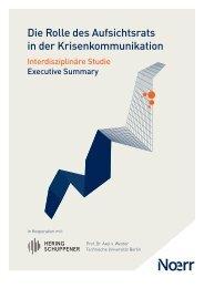 Studie: Krisenkommunikation Aufsichtsrat