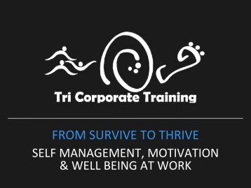 Welcome to Tri Corporate Training