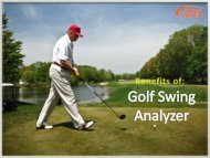 Now Analyse Your Every Swing with Golf Swing Analyzer