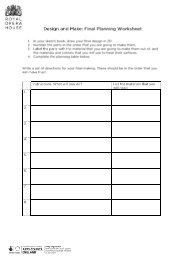 Design and Make Planning Resource