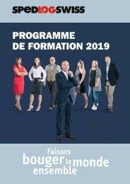 Programme de Formation 2019