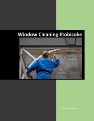 Windoe Cleaning Etobicoke