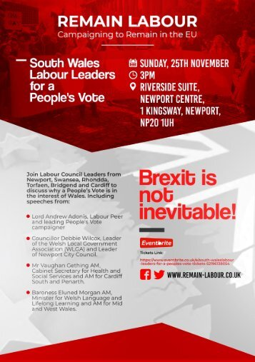 South Wales Labour Leaders for a People's Vote