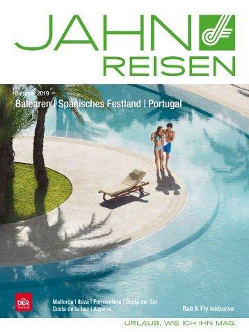 Jahn Reisen Austria Sommerkatalog 2019: Balearen, Spanisches Festland, Portugal