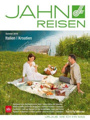 Jahn Reisen Austria Sommerkatalog 2019: Italien, Kroatien