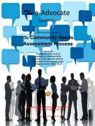 Community Needs Assessment Process