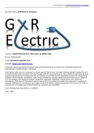 GXR Electric Company