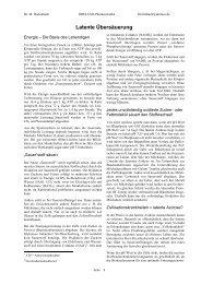 Latente Übersäuerung - Dreluso Pharmazeutika GmbH