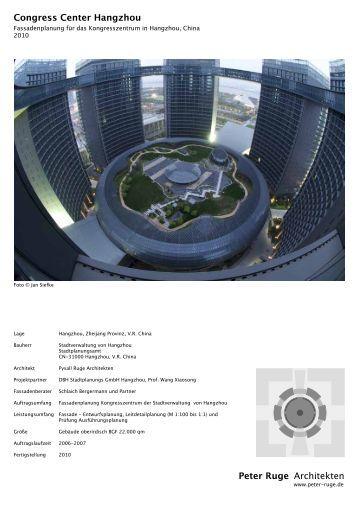 V u geh ren zur ar - Hangzhou congress center ...