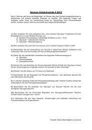 Seminar Kohlenhydrate II SS12