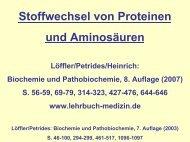 Stoffwechsel von Proteinen und Aminosäuren - s .uni-sb.d