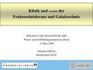 Fruktoseintoleranz und Galaktosämie - molekularediagnostik.ch