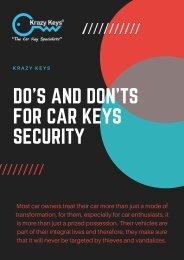 Preventive Measures For Automotive Keys Security