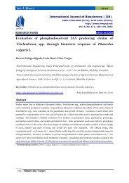 Evaluation of phosphodissolvent IAA producing strains of Trichoderma, spp. through biometric response of Phaseolus vulgaris L