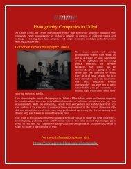 Photography Companies in Dubai  Best Photographers in Dubai