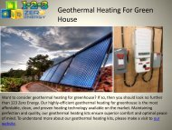 Best Geothermal Heating For Green House