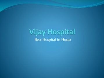 Vijay Hospital Hosur