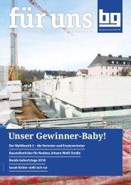 Baugenossenschaft Hof: für uns - Dezember 2018
