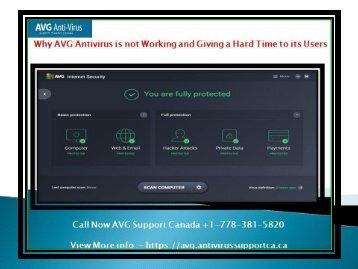 Why AVG Antivirus is not Working and Giving a Hard Time to its Users