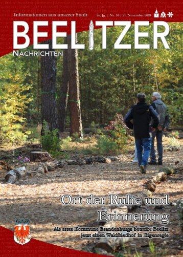 Beelitzer Nachrichten - November 2018