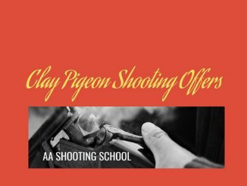 Clay Pigeon Shooting Offers for All