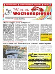 Dübener Wochenspiegel - Ausgabe 22 - Jahrgang 2018