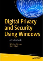 Nihad A. Hassan, Rami Hijazi (auth.)-Digital Privacy and Security Using Windows_ A Practical Guide-Apress (2017)Sample#PREVIEW
