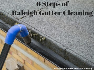 6 Steps of Raleigh Gutter Cleaning by Peak Pressure Washing