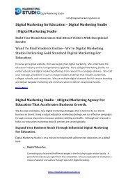 Digital Marketing Studio Education