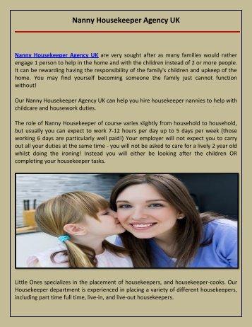 Nanny Housekeeper Agency UK-1