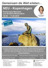 Kopenhagen Städteflugreise 08. bis 11.05.2019