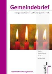 Gemeindebrief Muehlacker Winter 2018