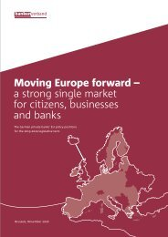 Moving Europe forward - a strong single market for citizens, businesses and banks