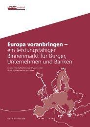 Europa voranbringen - ein leistungsfähiger Binnenmarkt für Bürger, Unternehmen und Banken