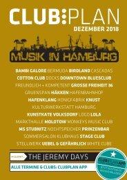 Clubplan Hamburg - Dezember 2018