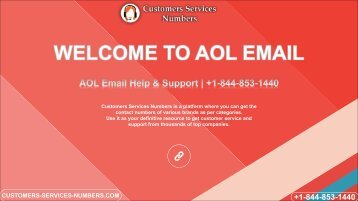 Call The AOL Email Support Number | +1-844-853-1440 USA