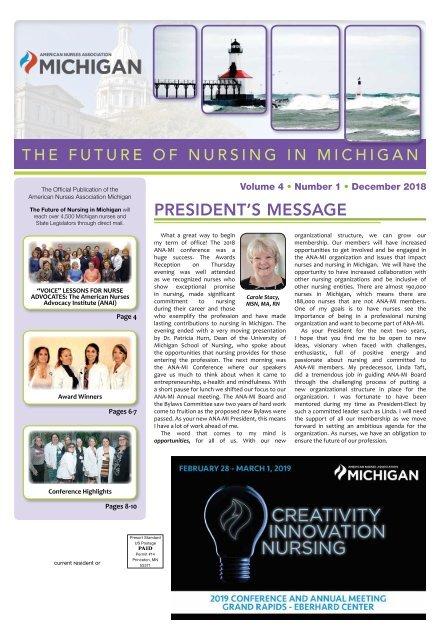The Future of Nursing in Michigan - December 2018