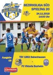 20181124 Fuggermärktler TSV 1862 Babenhausen – FC Viktoria Buxheim