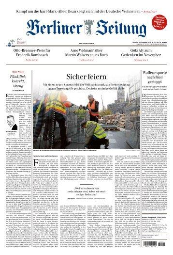 Berliner Zeitung 20.11.2018