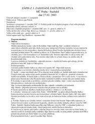 Zápis a usnesení z jednání Zastupitelstva MČ Praha - Suchdol