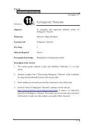 • Pythagoras' Theorem