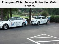 Emergency Water Damage Restoration Wake Forest NC
